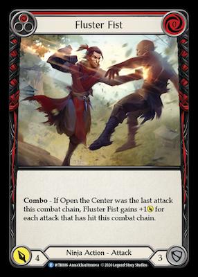 WTR086: Fluster Fist (Red) – (R)