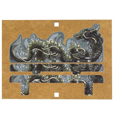 "Card Holder ""S"" Dragon FullPrint GRAY (klein)"