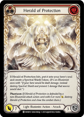 MON014: Herald of Protection (Red) – (C)