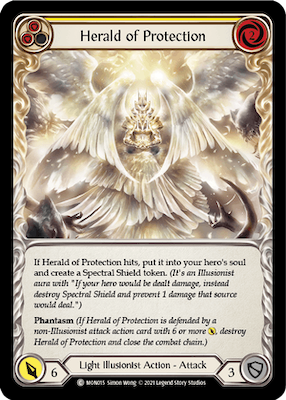 """MON015: Herald of Protection (Yellow) – (C) """"Foil"""""""