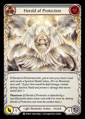 "MON016: Herald of Protection (Blue) – (C) ""Foil"""