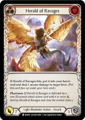 """MON017: Herald of Ravages (Red) – (C) """"Foil"""""""