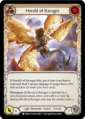 """MON018: Herald of Ravages (Yellow) – (C) """"Foil"""""""