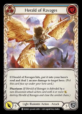 MON019: Herald of Ravages (Blue) – (C)