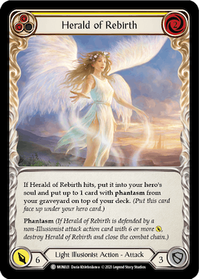 "MON021: Herald of Rebirth (Yellow) – (C) ""Foil"""