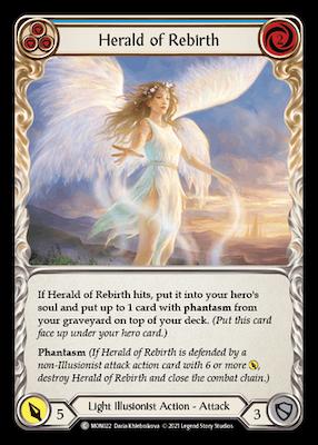 """MON022: Herald of Rebirth (Blue) – (C) """"Foil"""""""