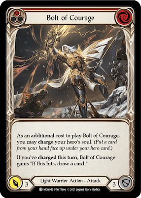 """MON042: Bolt of Courage (Red) – (C) """"Foil"""""""