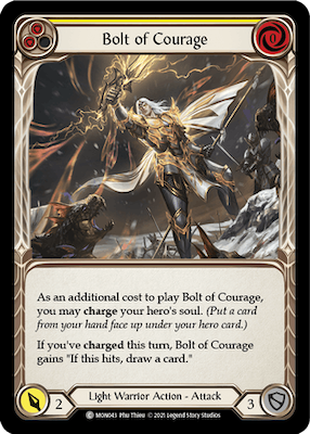 "MON043: Bolt of Courage (Yellow) – (C) ""Foil"""