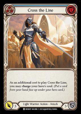 MON047: Cross the Line (Blue) – (C)