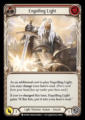 """MON048: Engulfing Light (Red) – (C) """"Foil"""""""