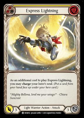 MON052: Express Lightning (Yellow) – (C)