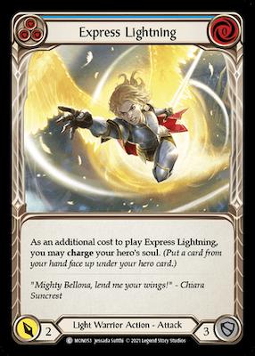 MON053: Express Lightning (Blue) – (C)