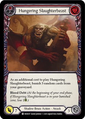MON147: Hungering Slaughterbeast (Red) – (C)