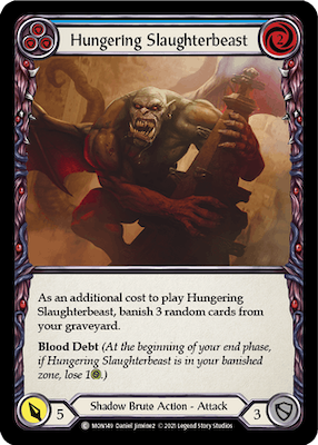 MON149: Hungering Slaughterbeast (Blue) – (C)