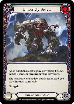 """MON150: Unworldy Bellow (Red) – (C) """"Foil"""""""