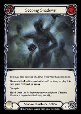 MON166: Seeping Shadows (Yellow) – (R)
