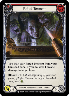 """MON177: Rifted Torment (Red) – (C) """"Foil"""""""