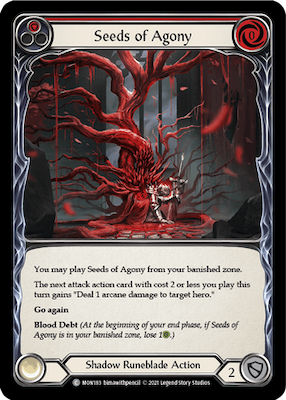 """MON183: Seeds of Agony (Red) – (C) """"Foil"""""""