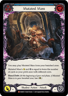 "MON191: Mutated Mass – (M) ""Foil"""