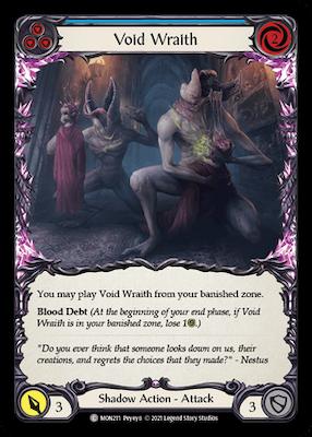 """MON211: Void Wraith (Blue) – (C) """"Foil"""""""