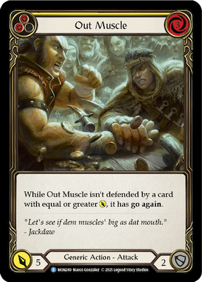 MON249: Out Muscle (Yellow) – (R)
