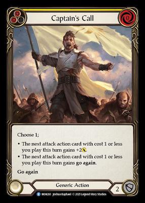 MON261: Captain's Call (Yellow) – (R)