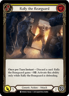 """MON282: Rally the Rearguard (Yellow) – (C) """"Foil"""""""
