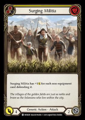 "MON288: Surging Militia (Yellow) – (C) ""Foil"""