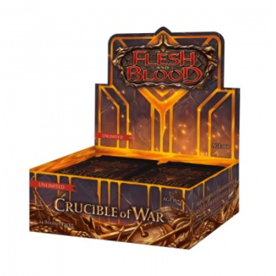 Flesh and Blood: Crucible of War – Unlimited Booster Display (24 Packs) – EN