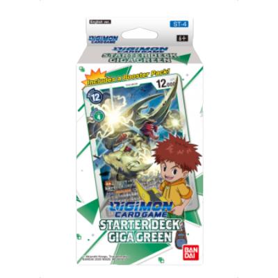 """Digimon Card Game: Starter Deck """"Giga Green ST-4"""" – EN"""