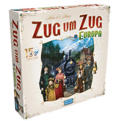 """Zug um Zug: Europa """"15 Jubiläum Deluxe"""" – DE"""