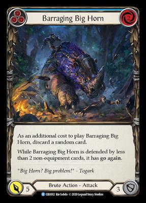 CoW012: Barraging Big Horn (Blue) – (R)